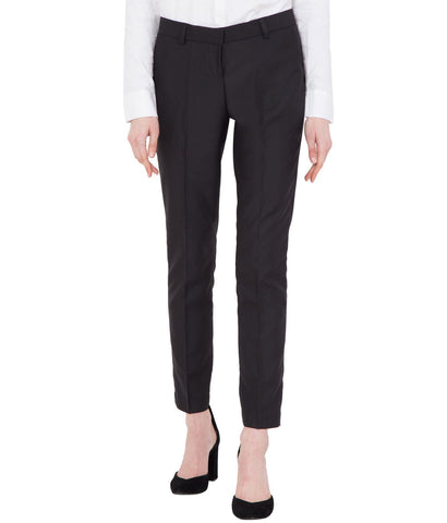 Women's Black Cotton Slim Fit Formal Trouser