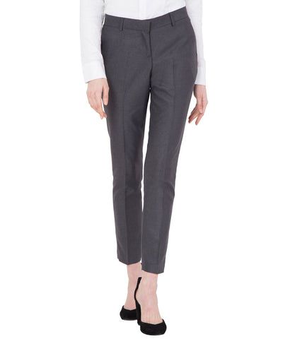 Women's Brown Cotton Formal Trouser