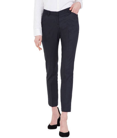 Blue Stretchable Cotton Office Wear Trouser for Women