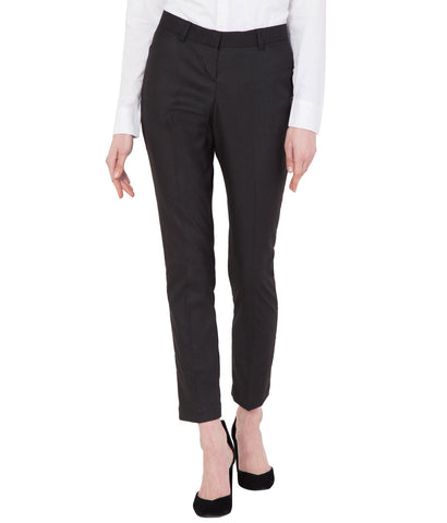 Dark Brown Stretchable Cotton Slim Fit Formal Trouser for Women
