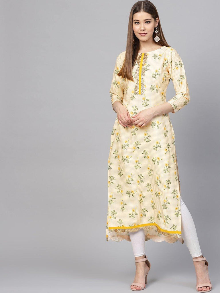Summer Yellow Straight Kurta