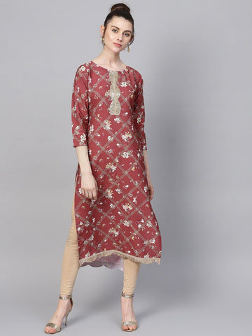 Multi Digital Print Straight Kurta