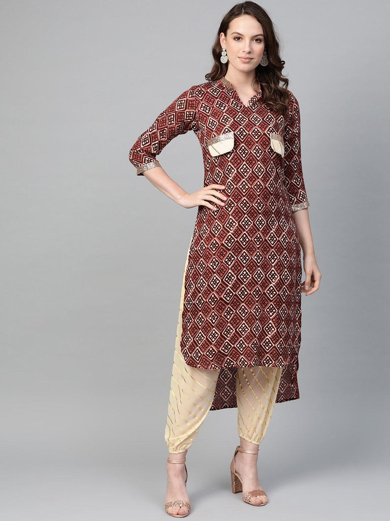 Women Pathani Kurta with Dhoti