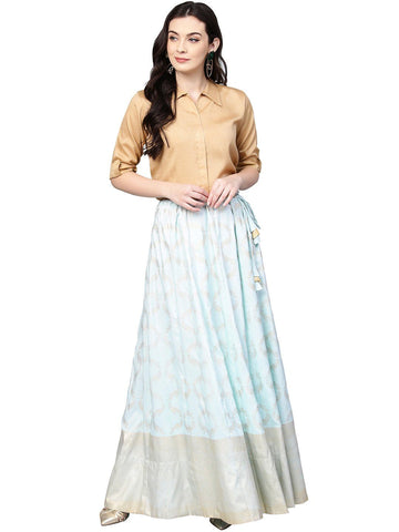 Indo western Shirt Skirt Set