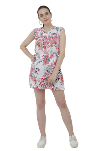 Girls Out Ready Floral Print Dress