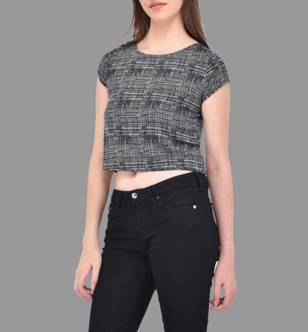Geometric Lines Crop Top