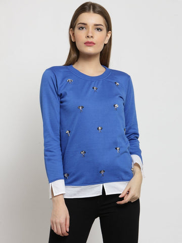 Belle Fille Blazing Blue Sweatshirts