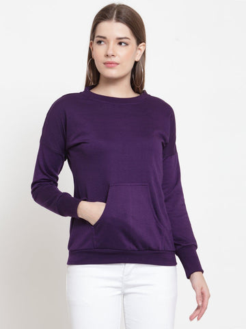 Belle Fille Pure Purple Sweatshirts