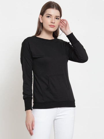 Belle Fille Casual Sweatshirts In Black