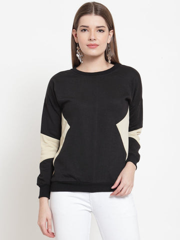 Belle Fille Blooming Black Sweatshirts