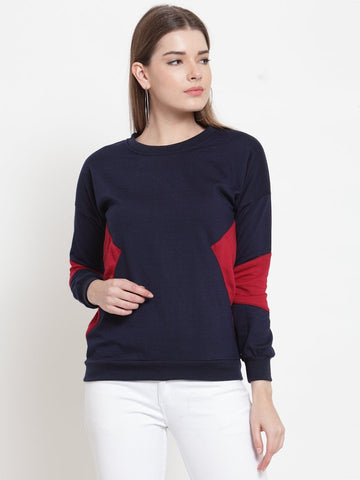 Belle Fille Navy Blue Cool Sweatshirts