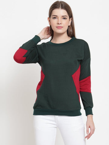 Belle Fille Green Glow Sweatshirts