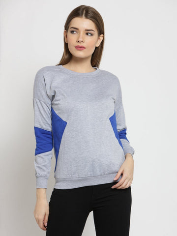 Belle Fille Chic Grey Melange Sweatshirts