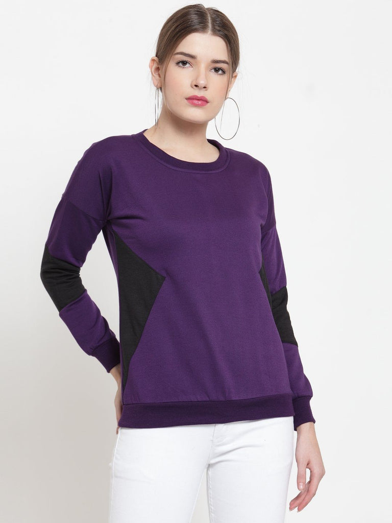 Belle Fille Basic Purple Sweatshirts
