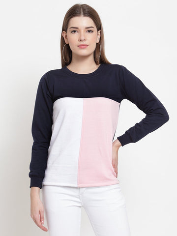 Belle Fille Sweatshirts In Navy Blue