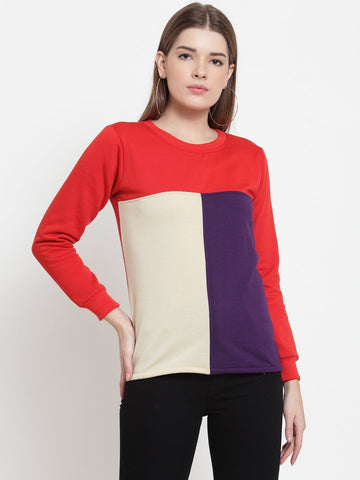 Belle Fille Red Simple Sweatshirts