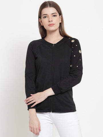 Belle Fille Midnight Black Sweatshirts