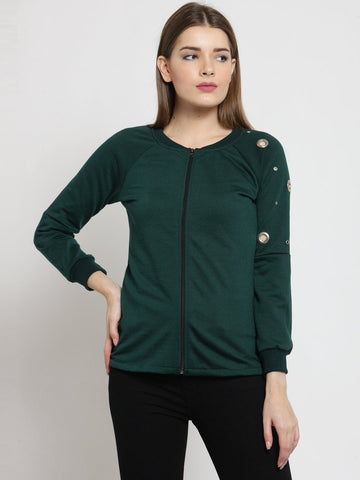 Belle Fille Green Sweatshirts