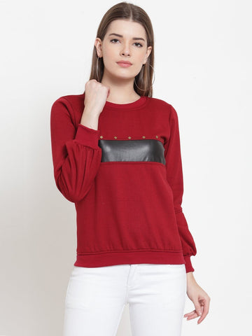 Belle Fille Maroon Mood Sweatshirts