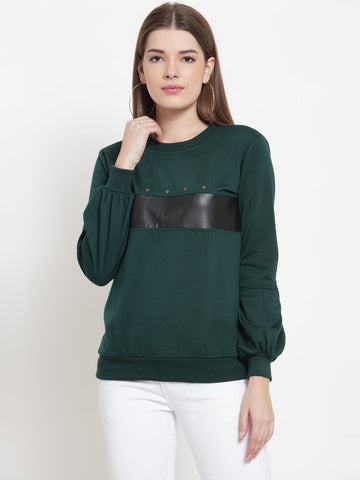 Belle Fille Casual Sweatshirts In Green