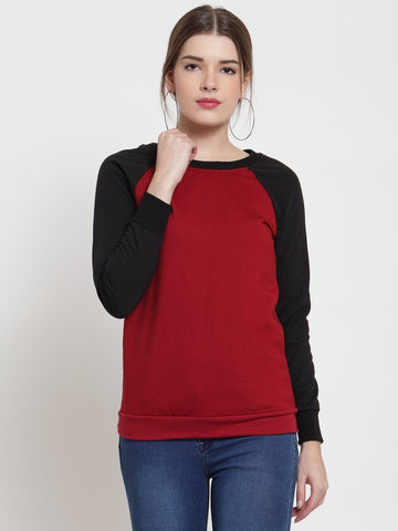 Belle Fille Chic Maroon Sweatshirts