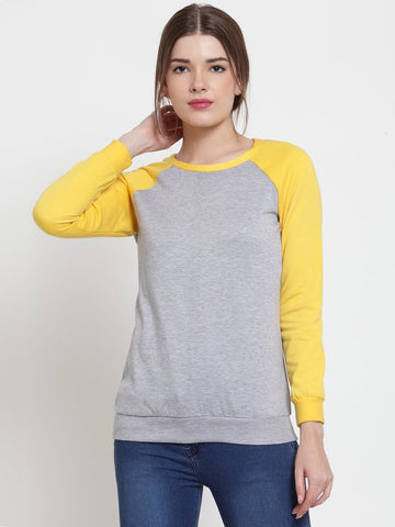 Belle Fille Grey Melange Sweatshirts