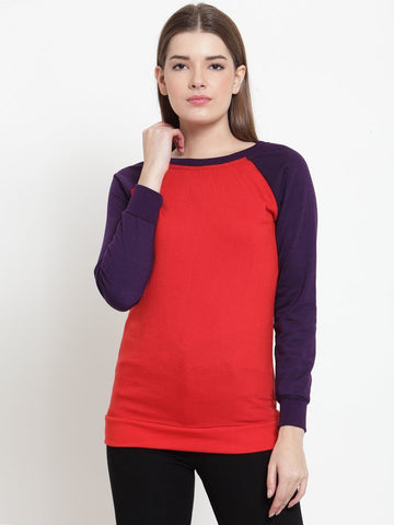 Belle Fille Simplistic Red Sweatshirts
