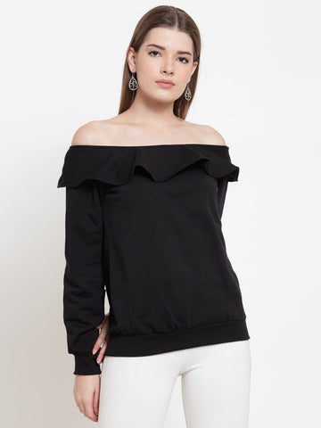 Belle Fille Chic Black Sweatshirts