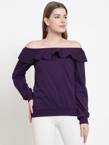 Belle Fille Pretty Purple Sweatshirts