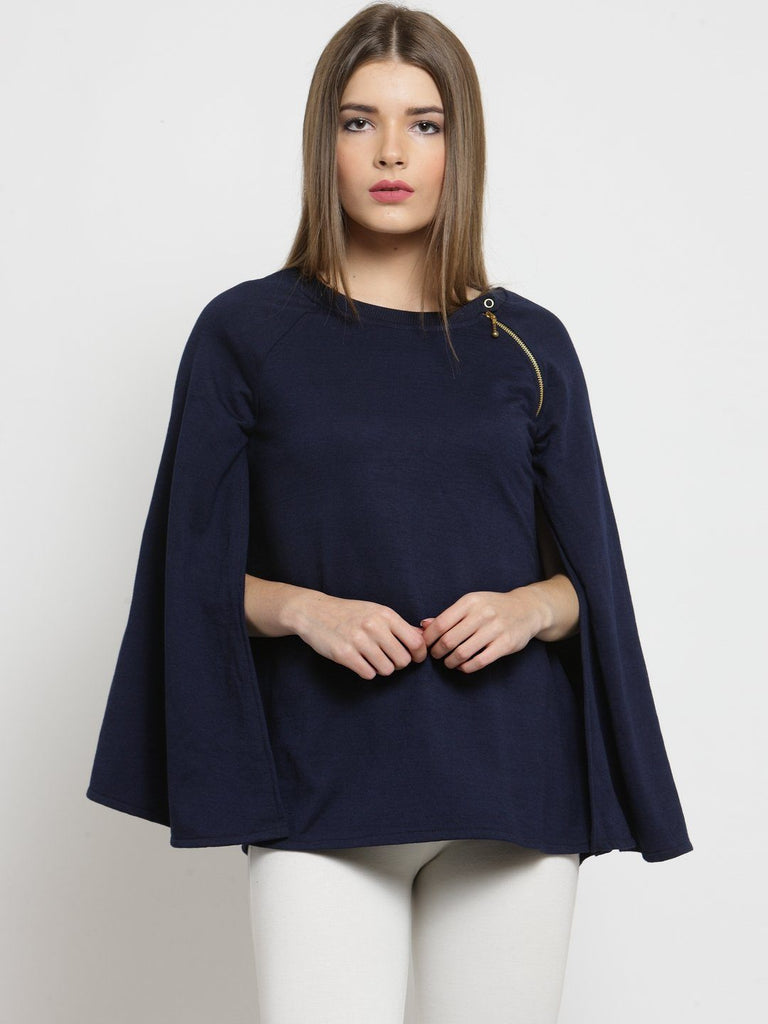 Belle Fille Navy Blue Everyday Sweatshirts