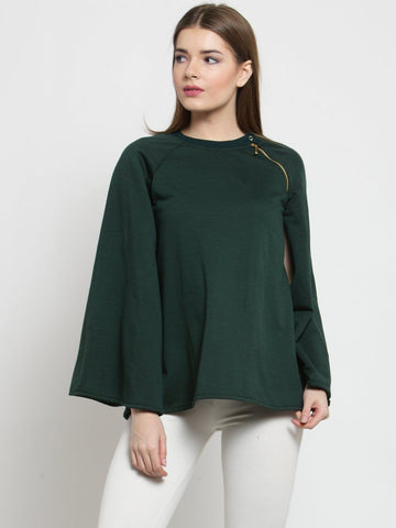 Belle Fille Glam Green Sweatshirts
