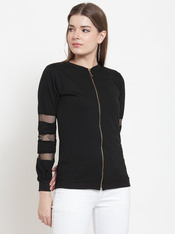 Belle Fille Black Basics Sweatshirts