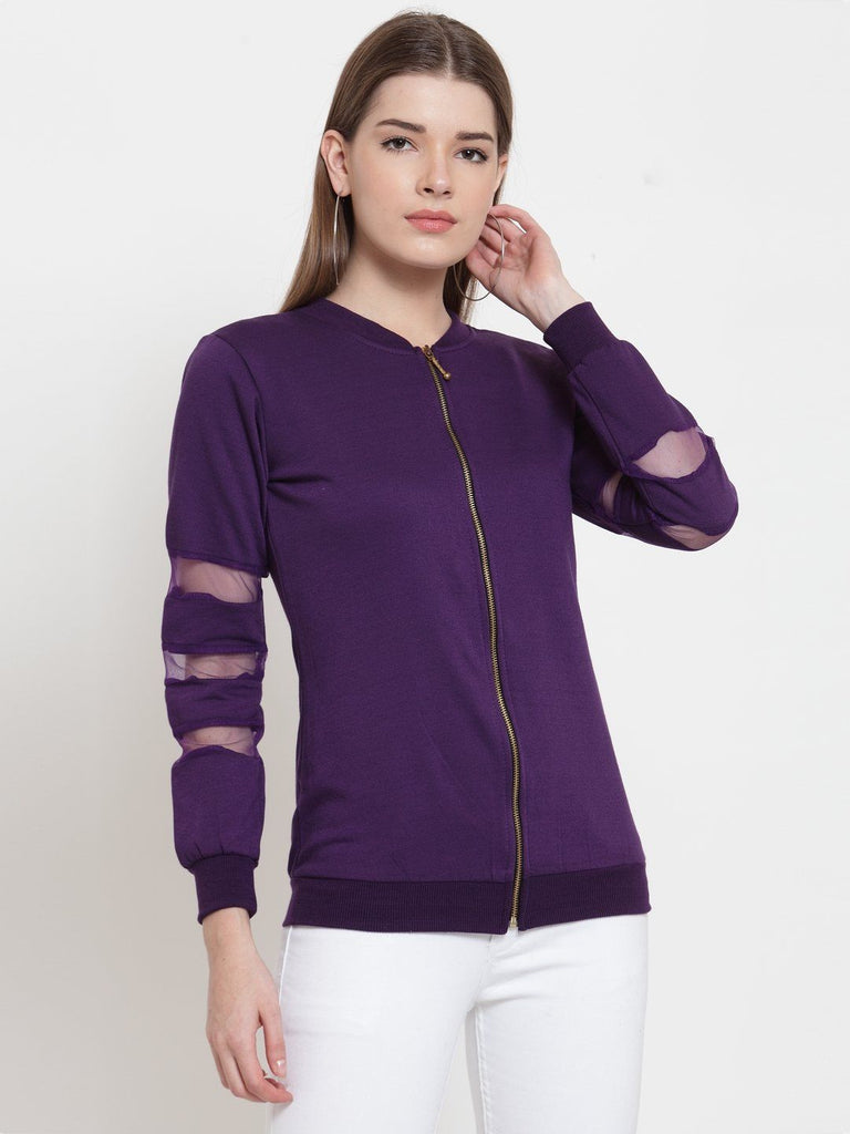 Belle Fille Purple Statement Sweatshirts