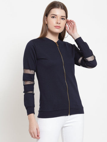 Belle Fille Everyday Navy Blue Sweatshirts