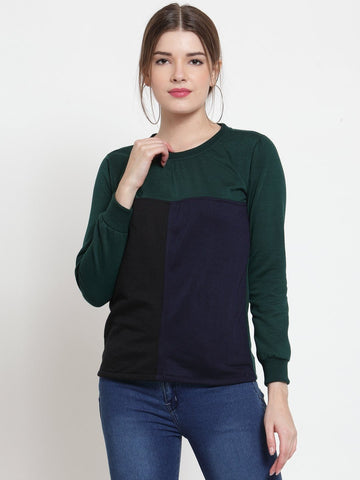 Belle Fille Green Grandeur Sweatshirts