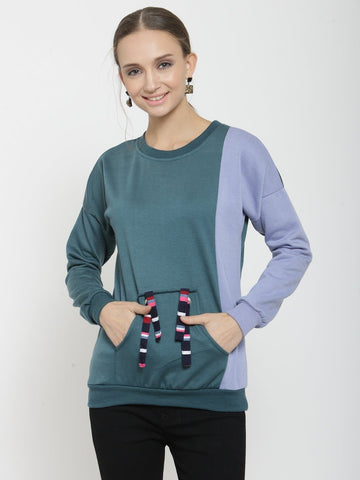 Belle Fille Teal Cute Sweatshirts