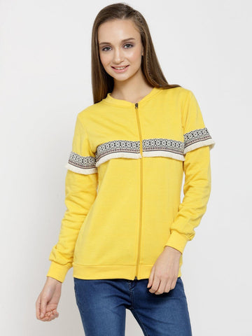 Belle Fille Cute Yellow Sweatshirts