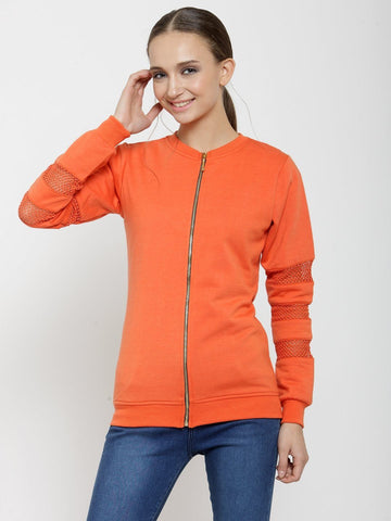 Belle Fille Casual Orange Comfy Sweatshirts