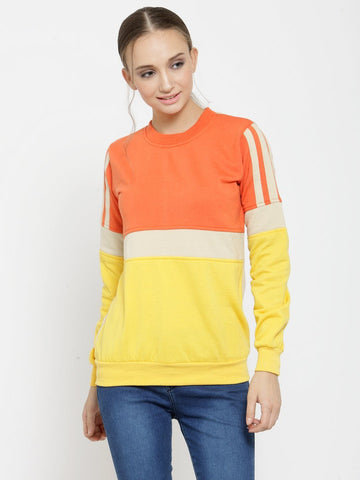 Belle Fille Sweetheart Orange Sweatshirts