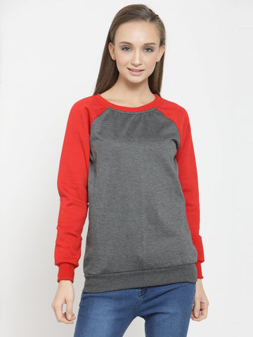 Belle Fille Casual Grey Sweatshirts