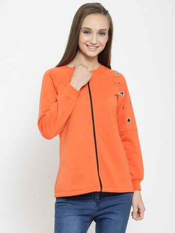 Belle Fille Simplistic Orange Sweatshirts