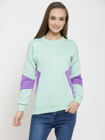 Belle Fille Sea Green Sweatshirts