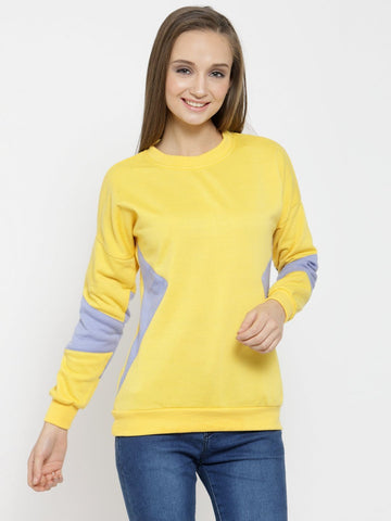 Belle Fille Yellow Chaos Sweatshirts