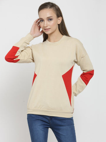 Belle Fille Basic Beige Sweatshirts