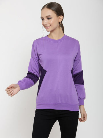 Belle Fille Casual Violet Cute Sweatshirts