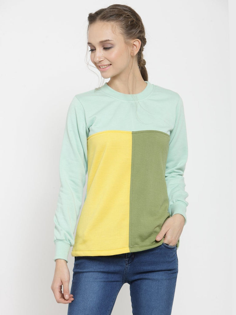 Belle Fille Soulful Sea Green Sweatshirts