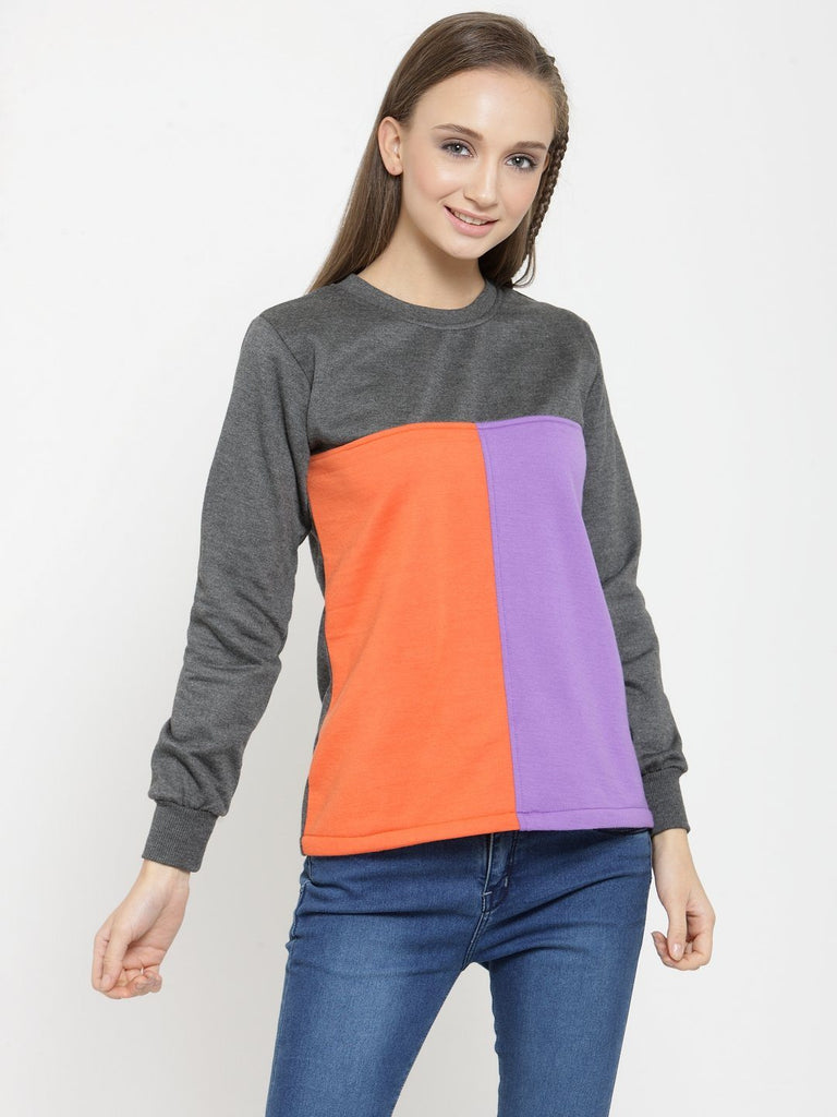 Belle Fille Cute Grey Sweatshirts