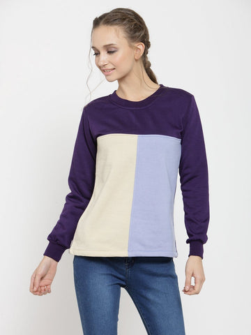 Belle Fille Cozy Purple Sweatshirts