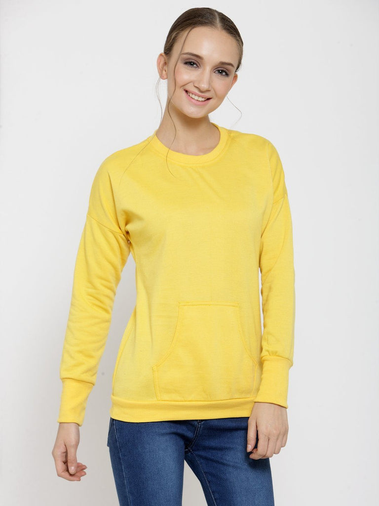 Belle Fille Yellow Sky Sweatshirts