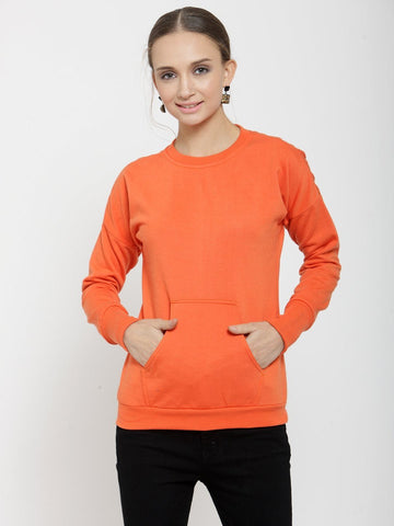 Belle Fille Blazing Orange Sweatshirts